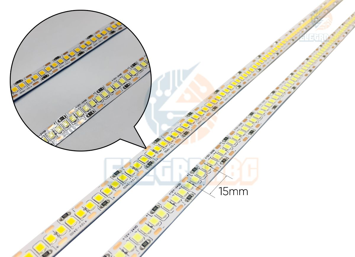 Fita led 2835 12V 5M 240 LEDS/M IP20 BF