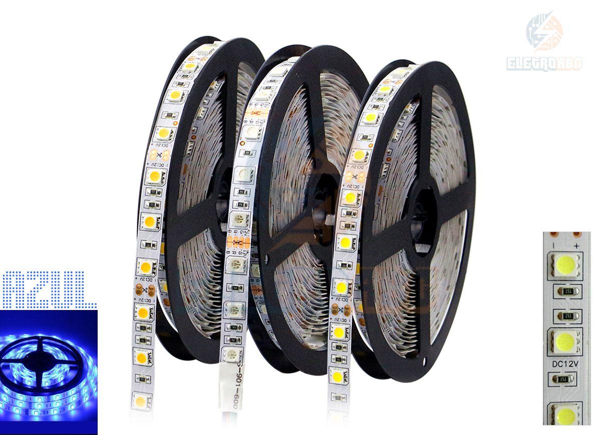 Fita LED 5050 Azul IP20