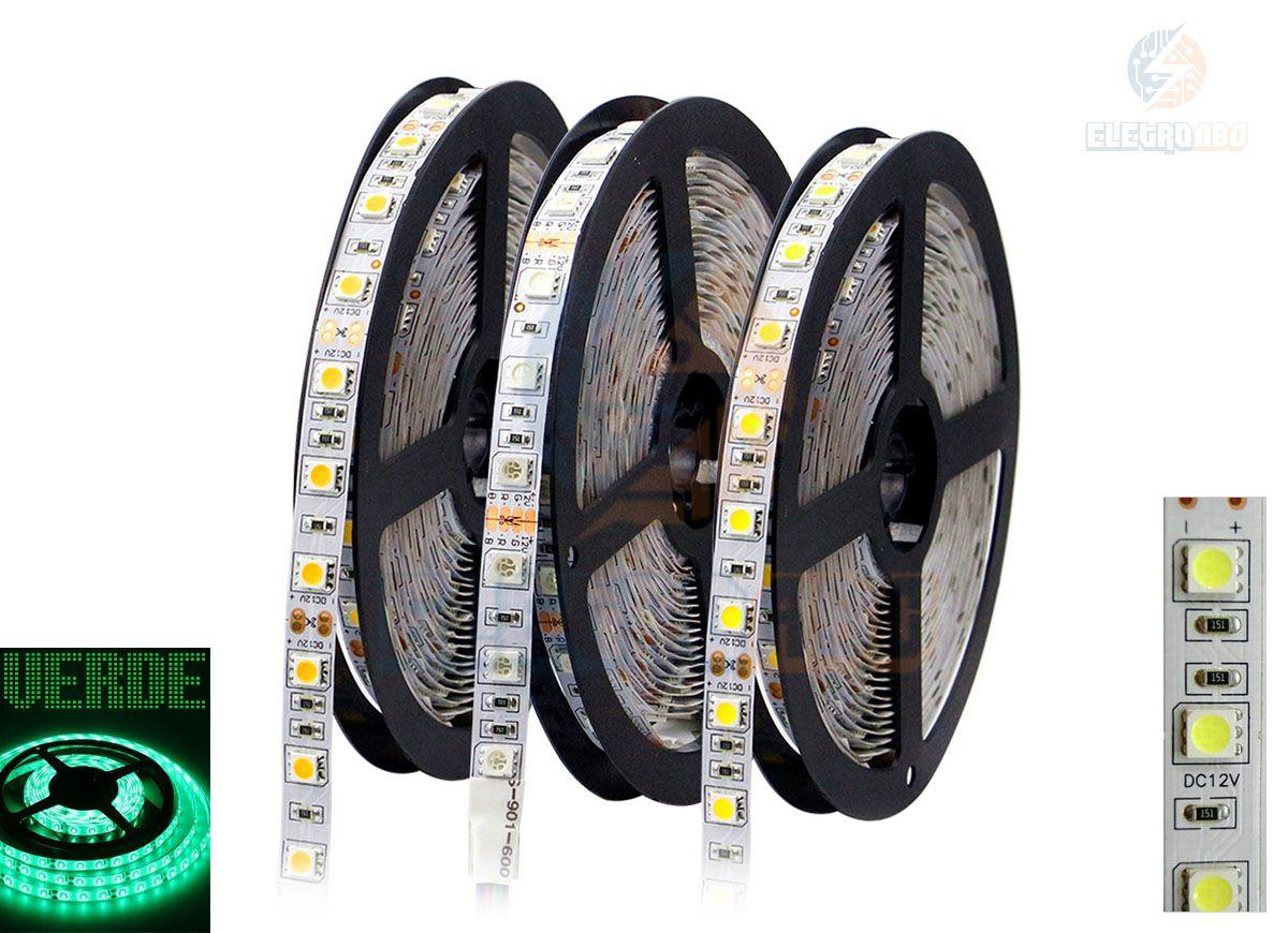 Fita LED 5050 Verde IP65