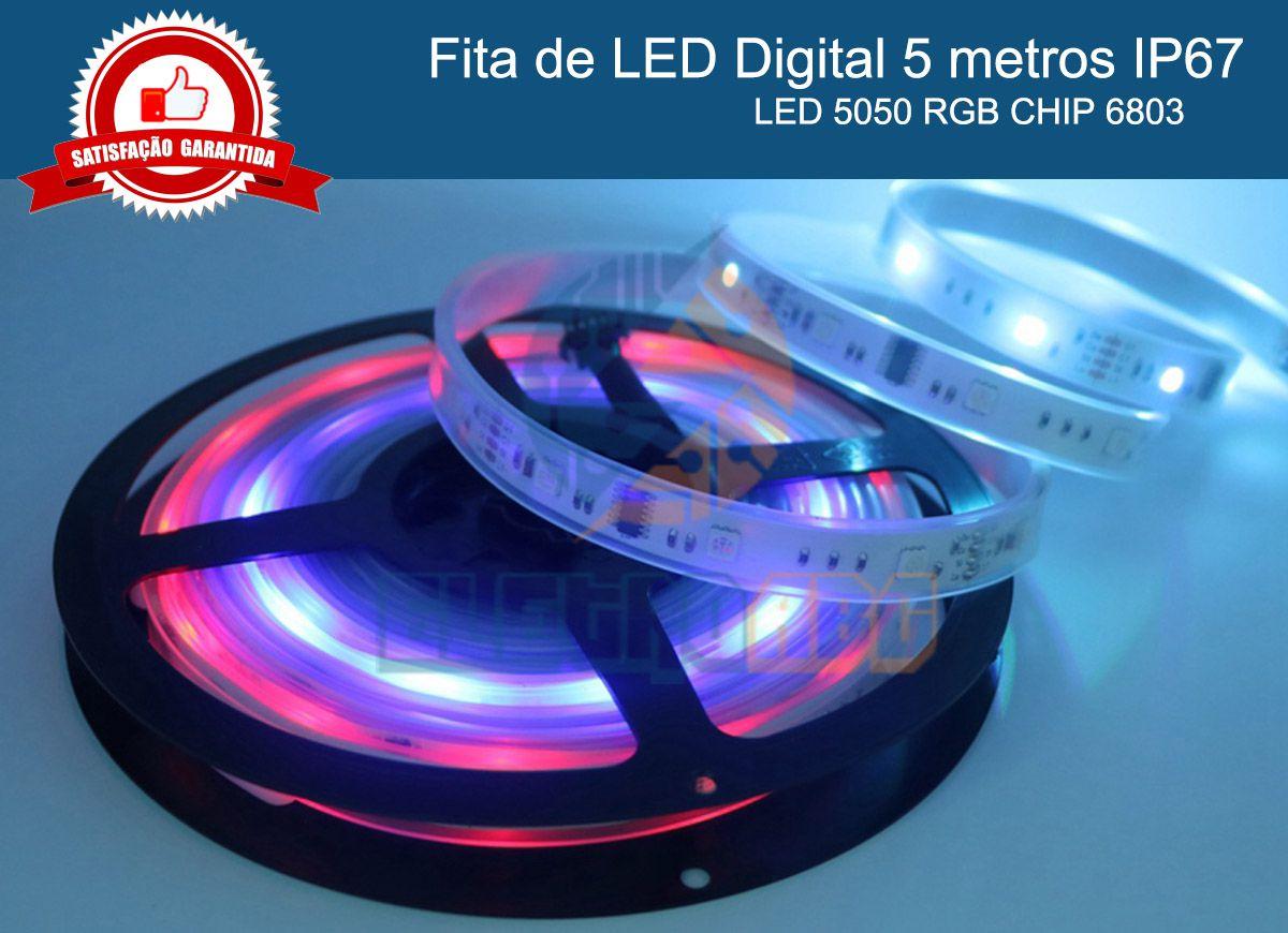 Fita LED digital 6803 RGB endereçavel