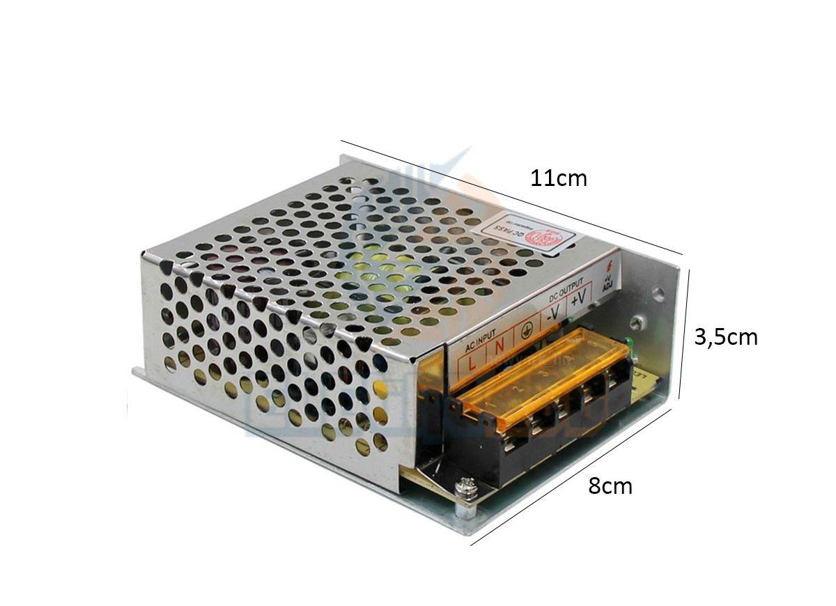 Fonte 12 volts 5 Amperes Metálica