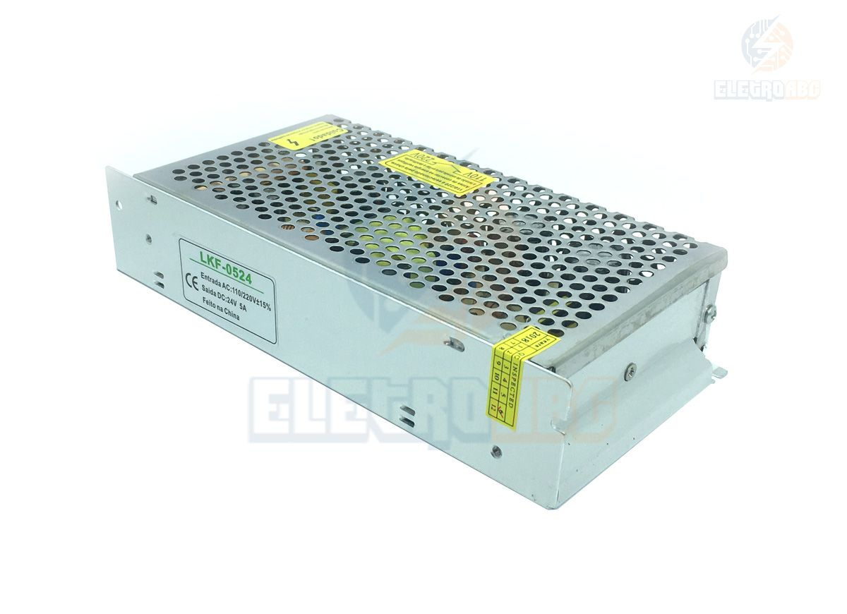 Fonte 24 volts 5 amperes