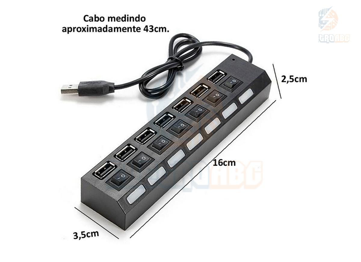 HUB USB 7 saídas