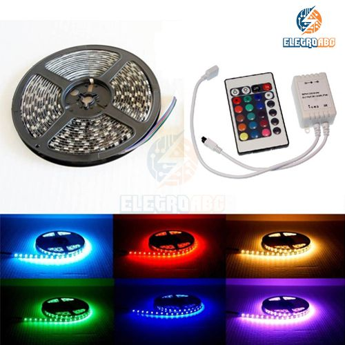 KIT 25 rolos de Fita LED RGB 5050 + Aplificador