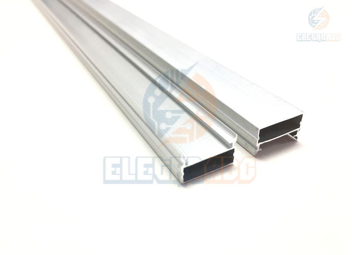 Kit com 35 perfis de alumínio liso para fita de LED