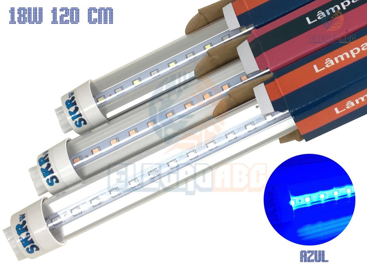 Lampada de LED SKRw Tubol.T8 18W 120cm Azul