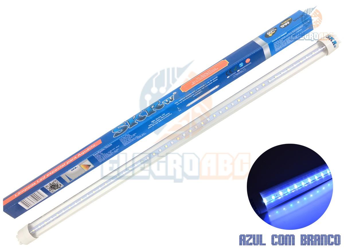 Lampada de LED SKRw Tubol.T8 9W 60cm Azul/BR