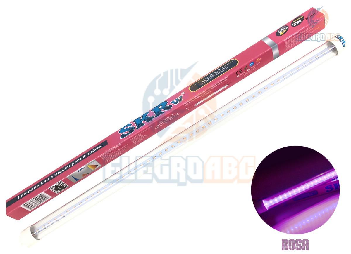 Lampada de LED SKRw Tubol.T8 9W 60cm Rosa