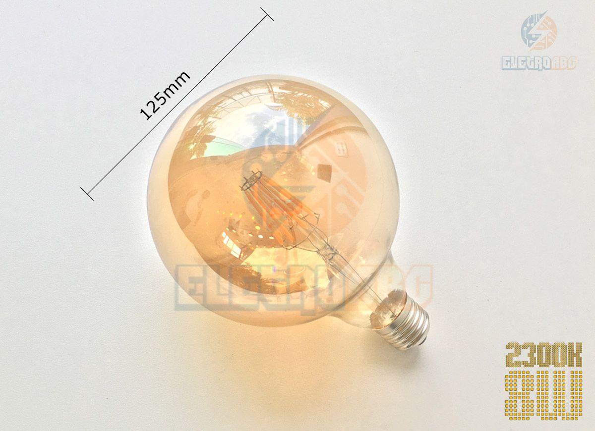 Lâmpada LED Filamento vintage retrô G125 8W 2300k