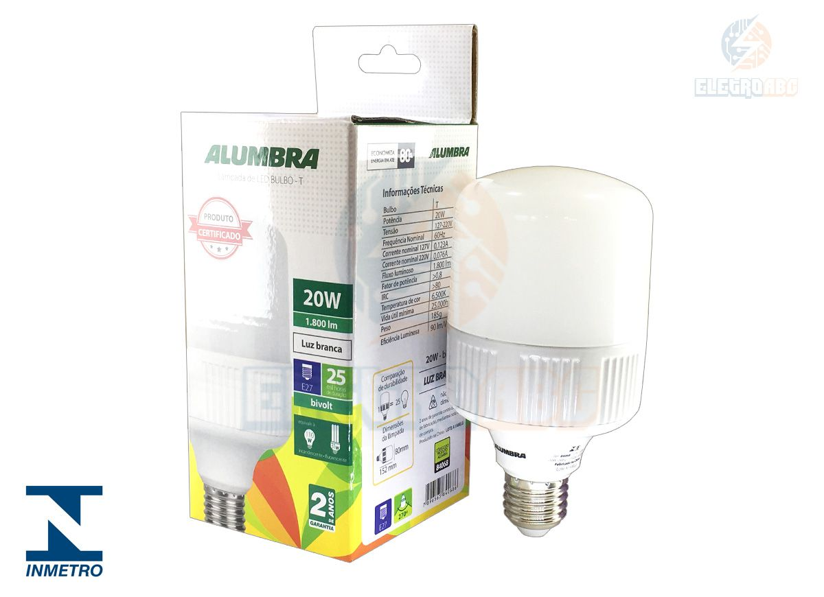 Lampada LED Highpower 20W (T-plus) BIV 6500K - E27
