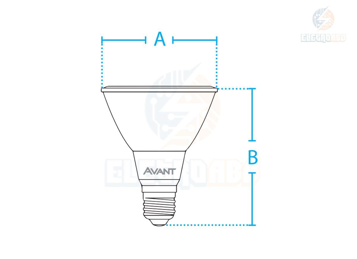 Lâmpada LED PAR 30 11W 2700K AVANT