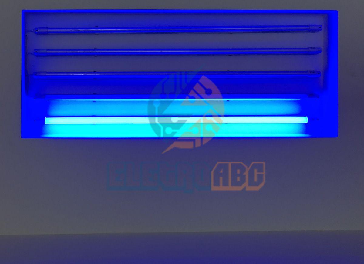 Lâmpada LED T8 sem calha 120 cm 18 W AZUL Leitoso vidro