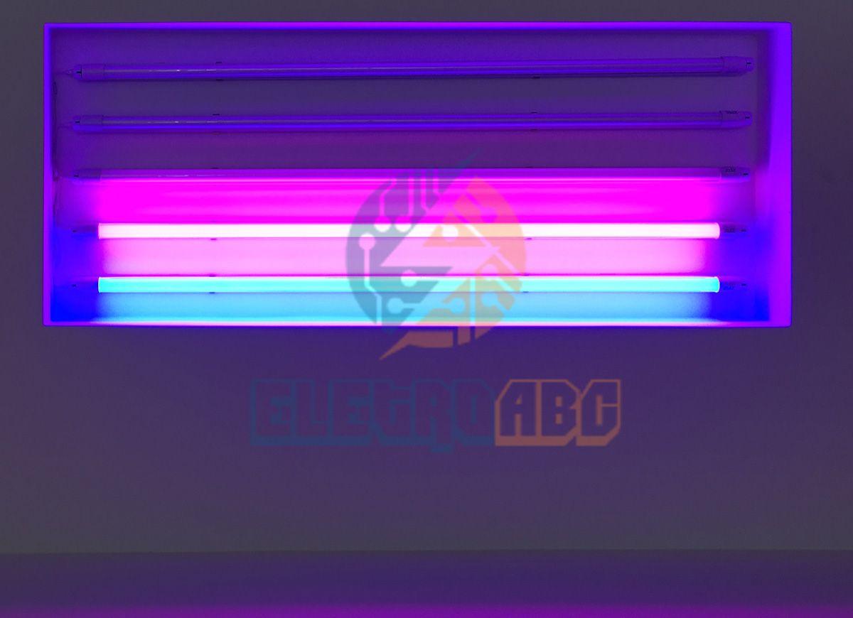 Lâmpada LED T8 sem calha 120 cm 18 W ROSA Leitoso vidro