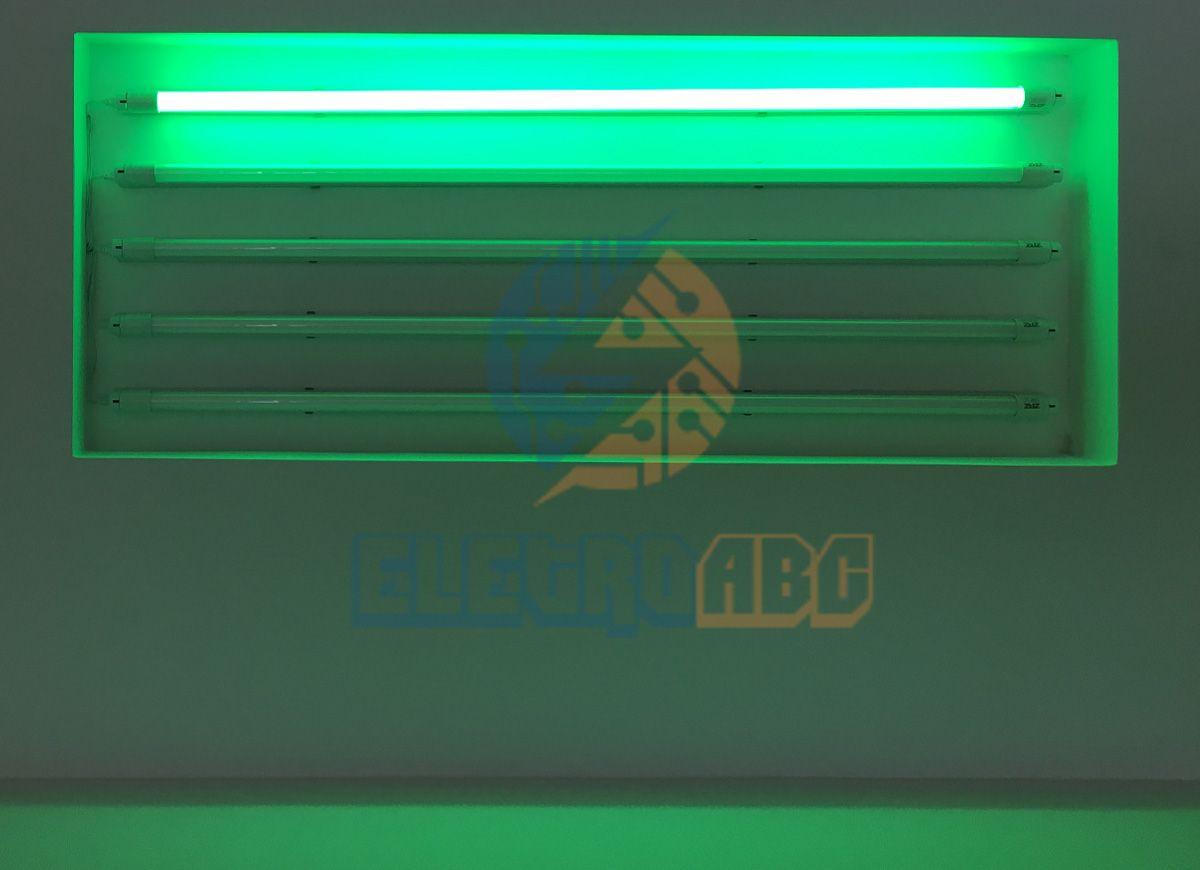 Lâmpada LED T8 sem calha 120 cm 18 W VERDE Leitoso vidro