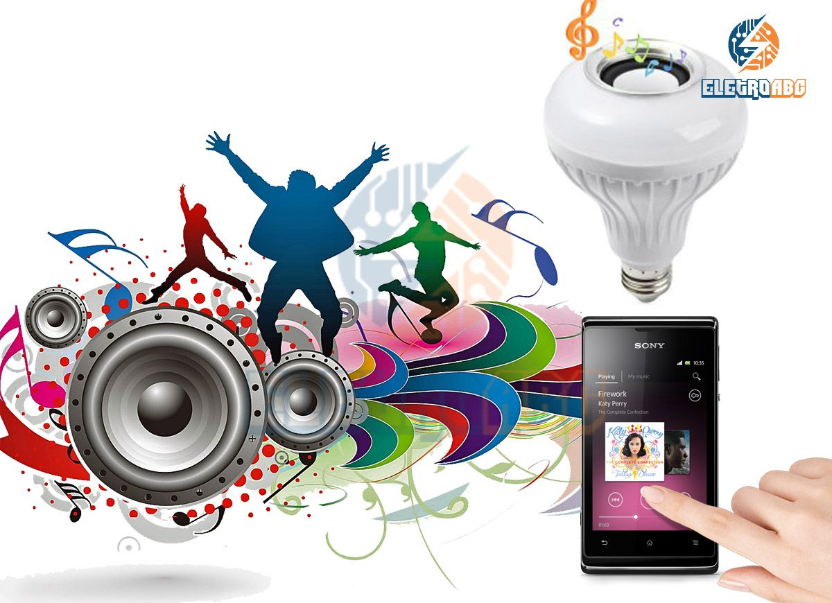 Lâmpada RGB Music