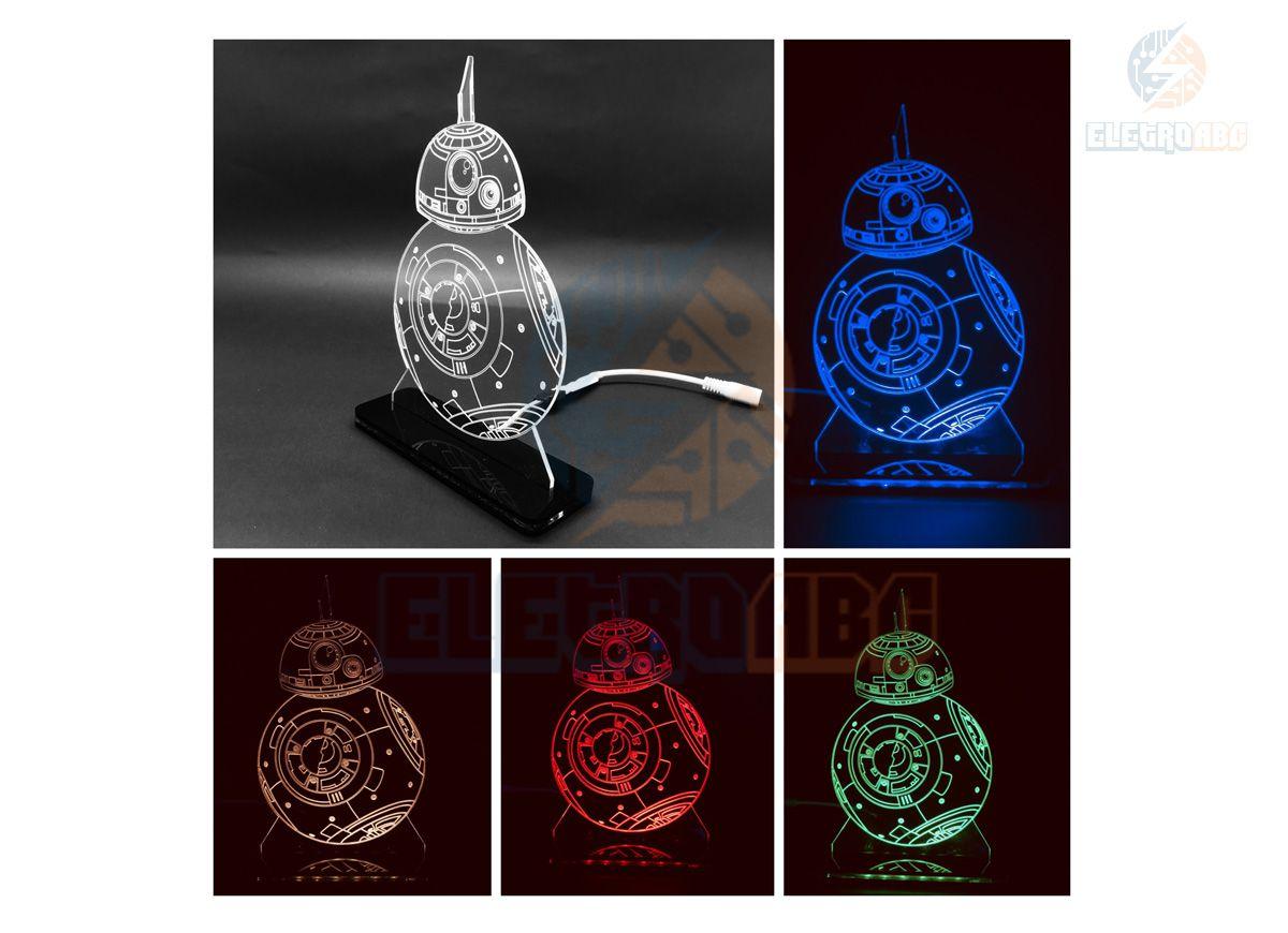 Luminaria/Abajur 3D ILUSION BB-8