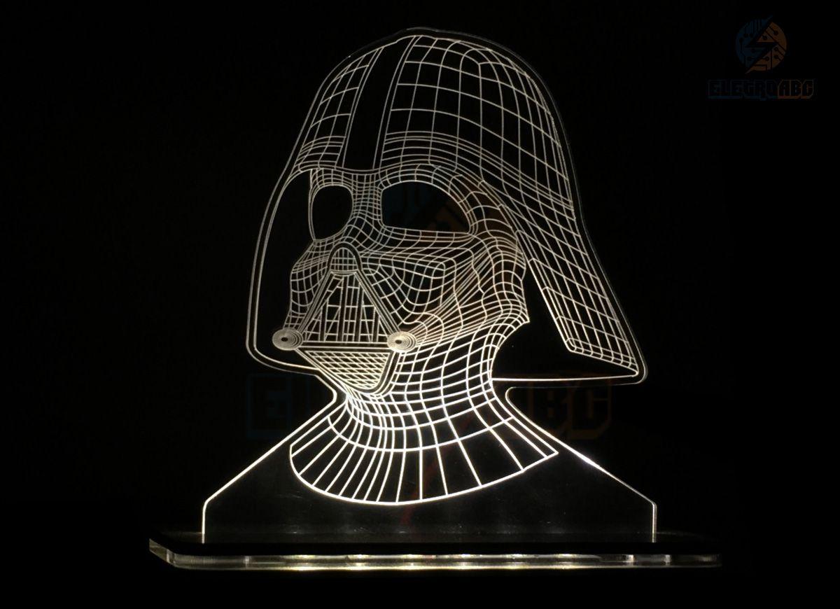 Luminaria/Abajur 3D ILUSION C. Darth Vader