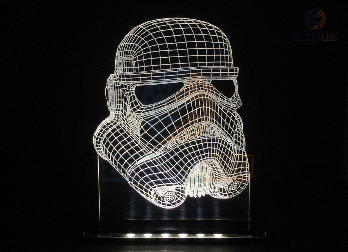Luminaria/Abajur 3D ILUSION C. Trooper