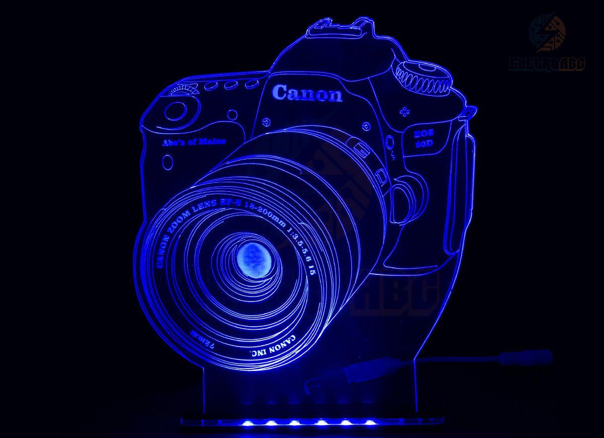 Luminaria/abajur 3D ILUSION Canon