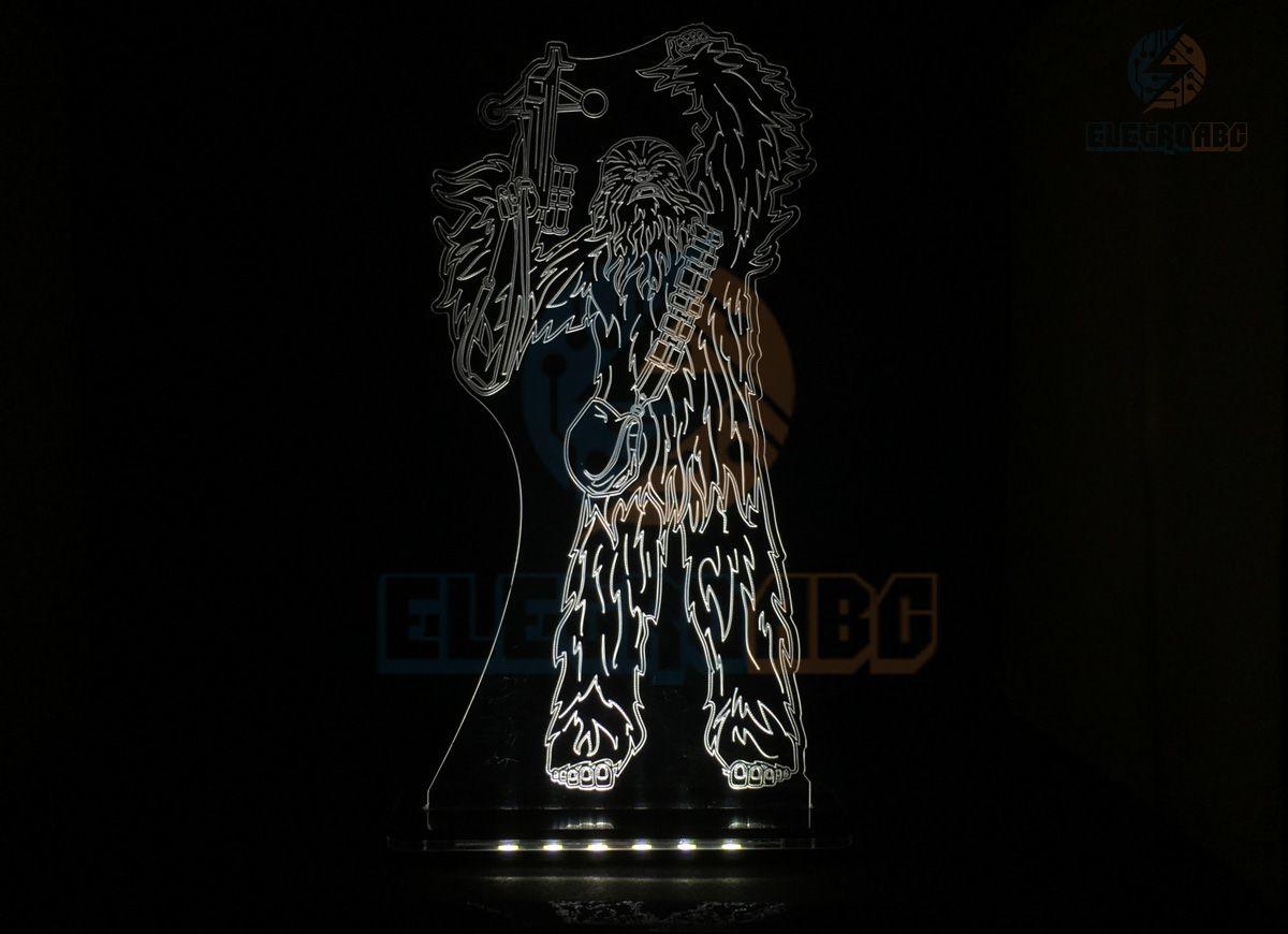 Luminaria/Abajur 3D ILUSION chewbacca