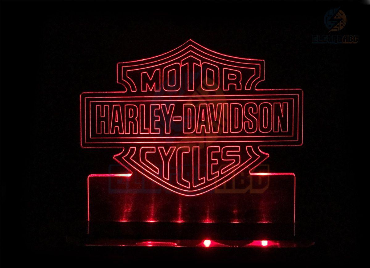Luminaria/abajur 3D ILUSION H. Davidson