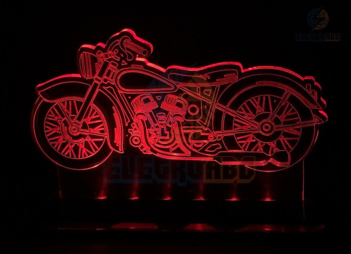 Luminaria/abajur 3D ILUSION H. Davidson Moto