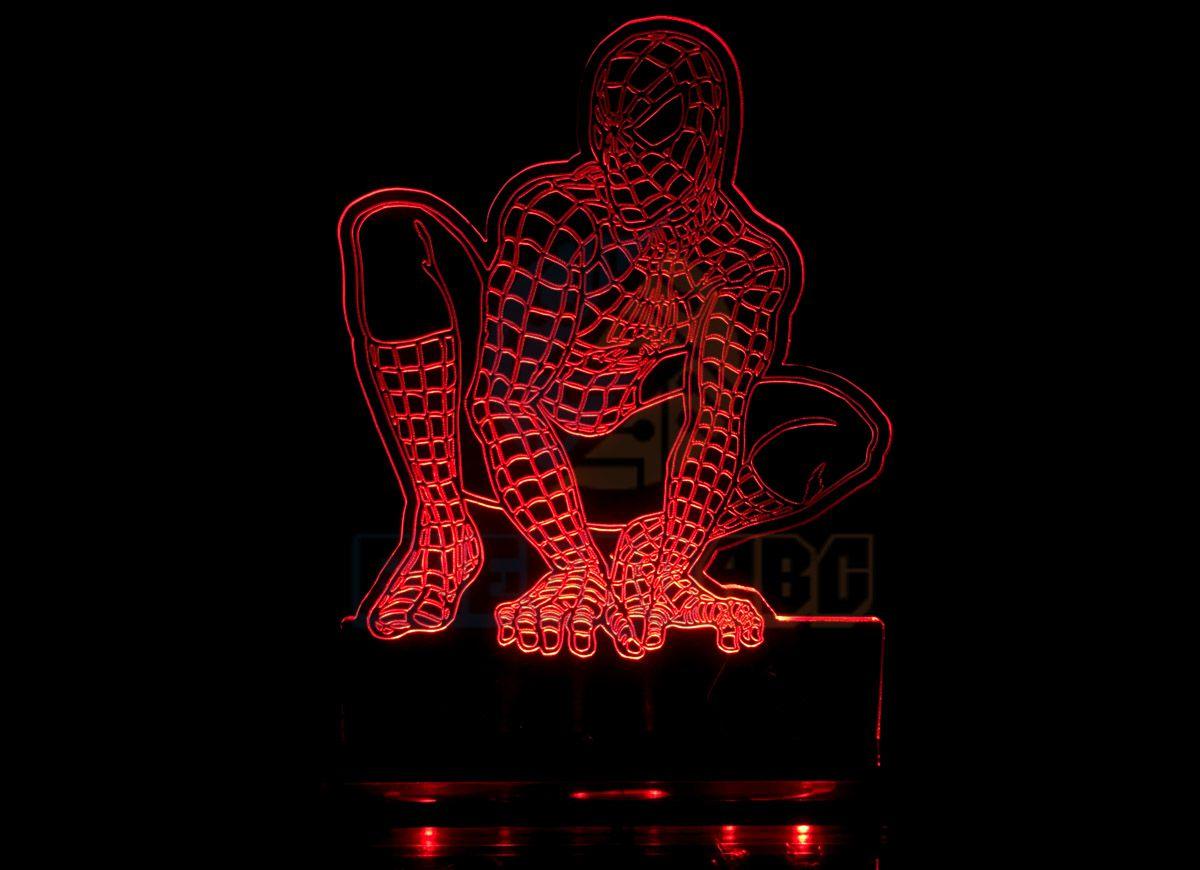 Luminaria/abajur 3D ILUSION Homem Aranha