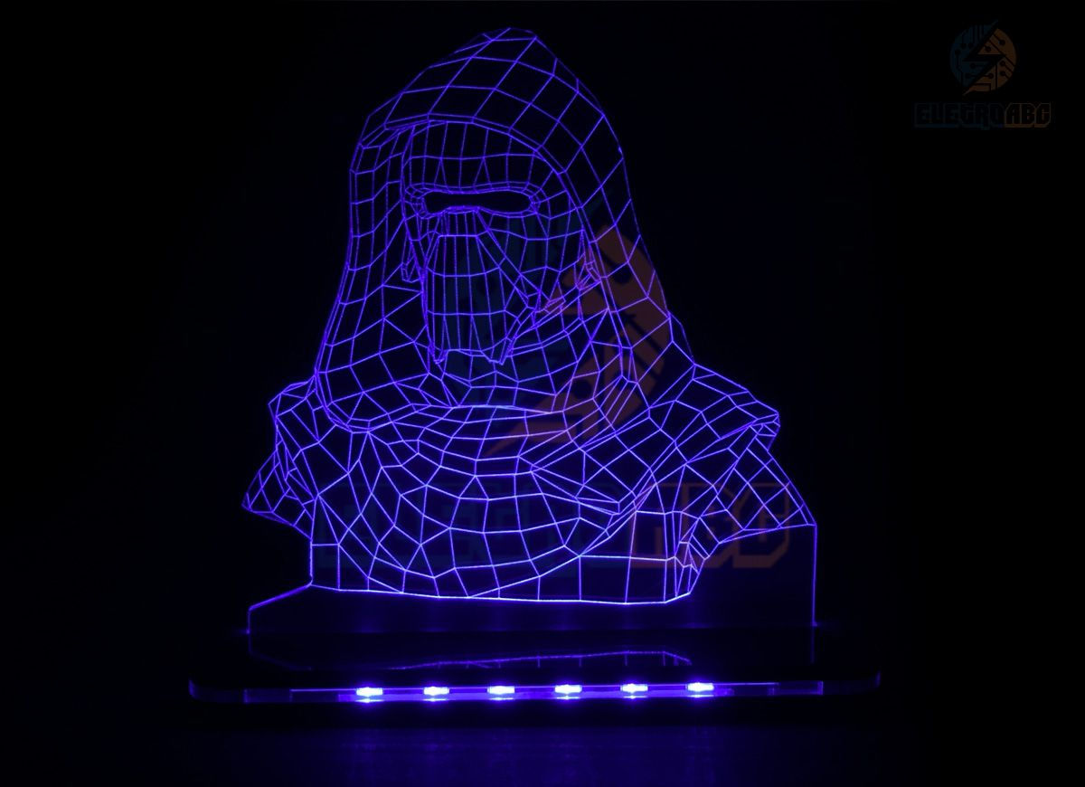 Luminaria/Abajur 3D ILUSION KYLO REN