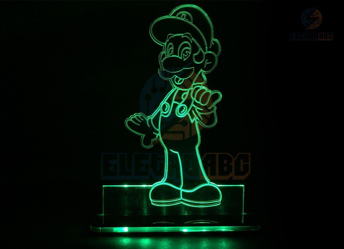 Luminaria/Abajur 3D ILUSION Luigi