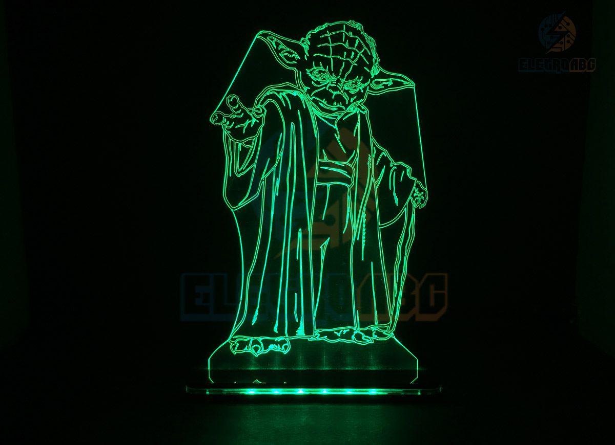Luminaria/Abajur 3D ILUSION M. Yoda