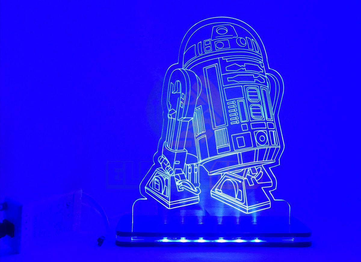 Luminaria/Abajur 3D ILUSION R2D2