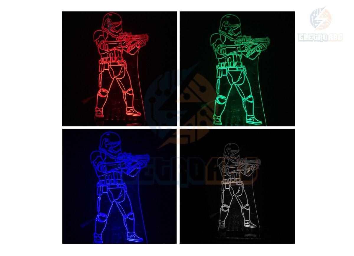 Luminaria/Abajur 3D ILUSION stormtrooper