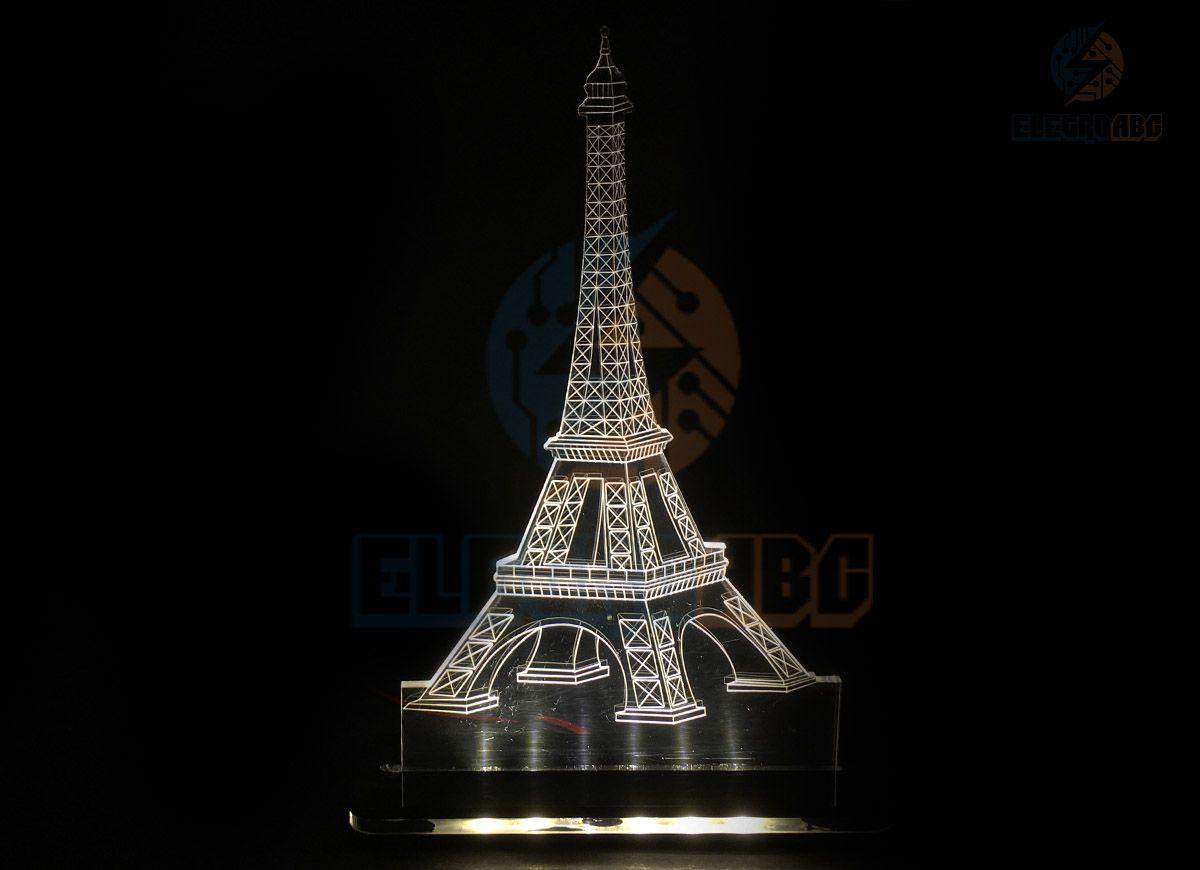 Luminaria/Abajur 3D ILUSION Torre Eiffel