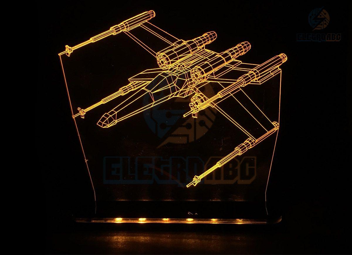 Luminaria/Abajur 3D ILUSION x-wing