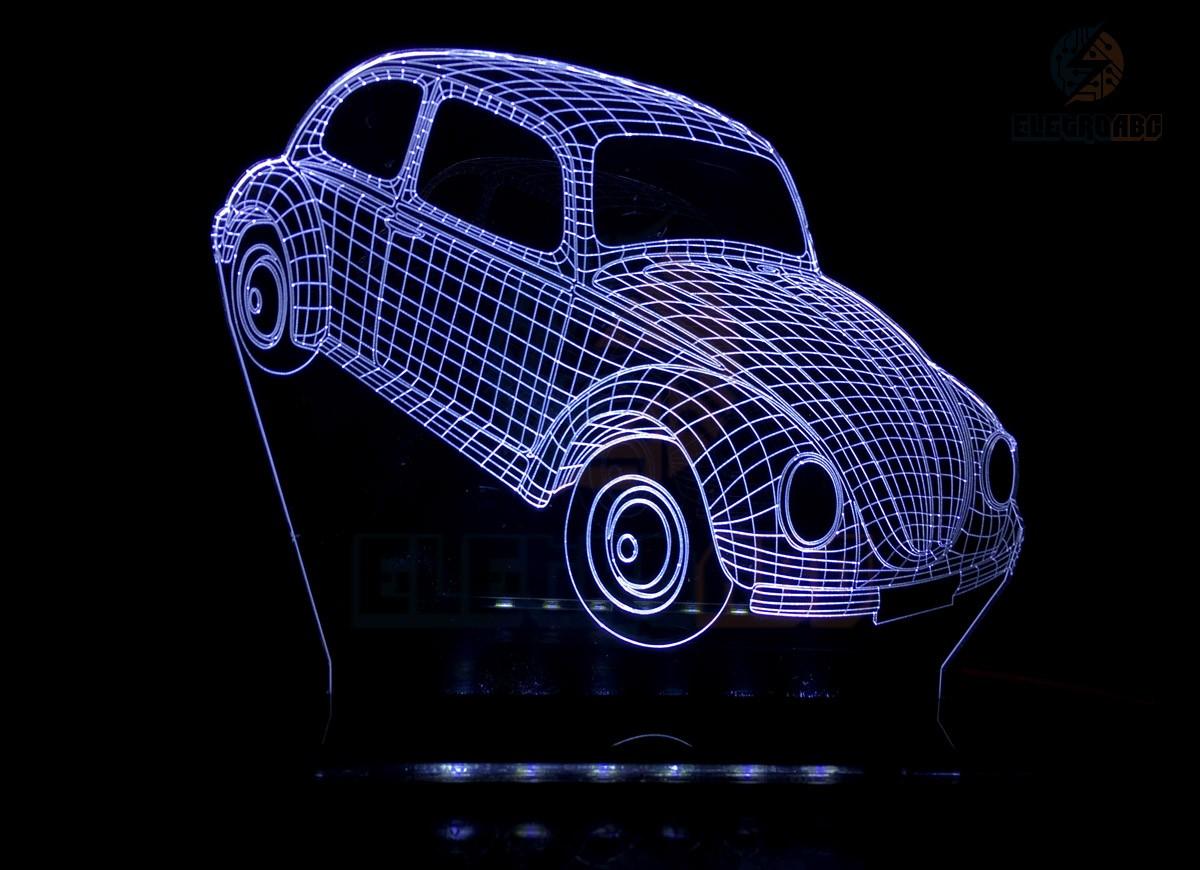 Luminaria/Abajur 3D ILUSION Fusca