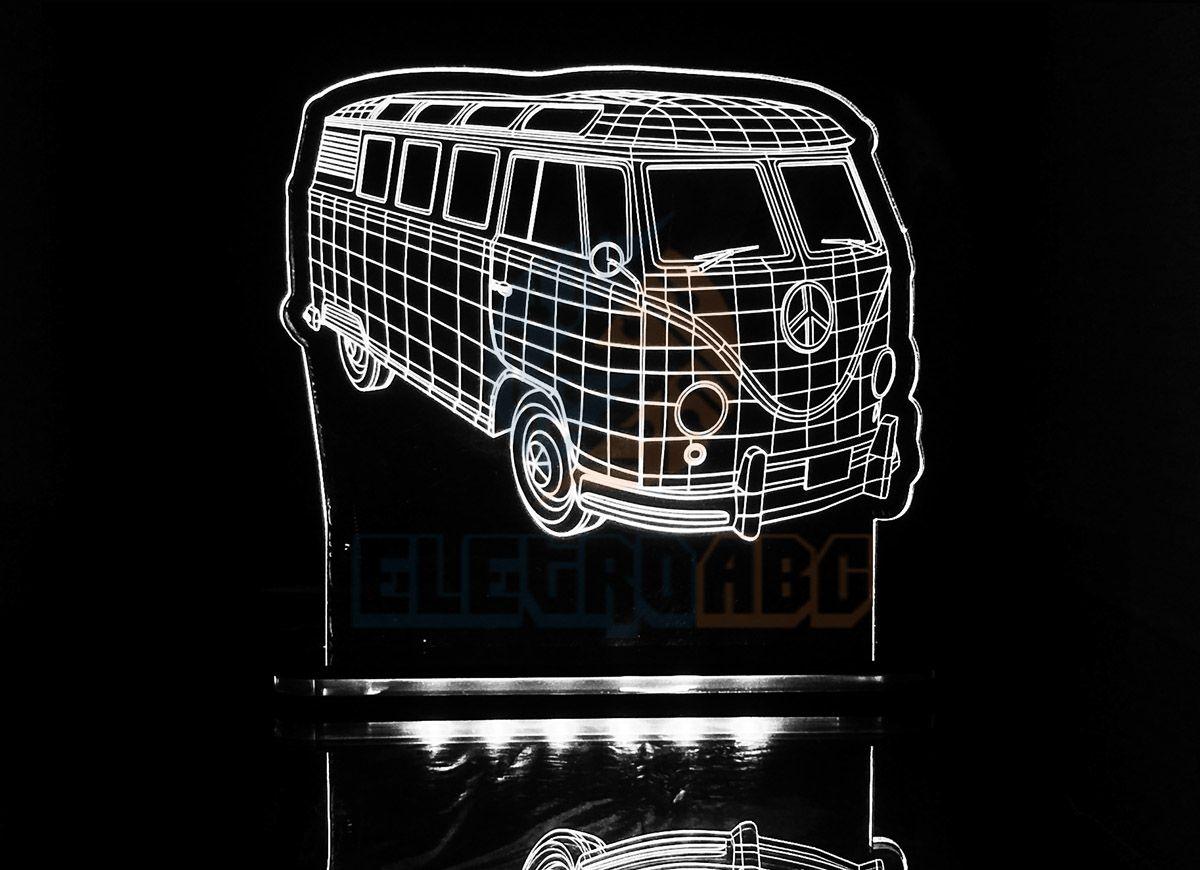 Luminaria/Abajur 3D ILUSION Kombi
