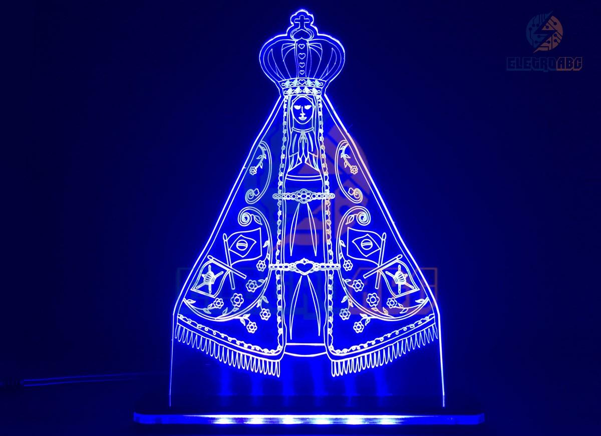 Luminaria/Abajur 3D ILUSION Nossa Senhora Aparecida