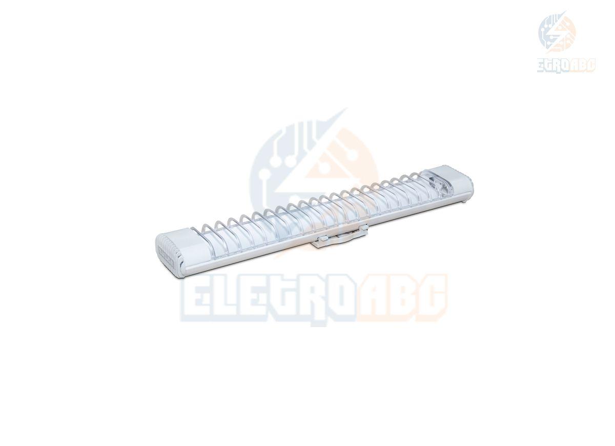 Luminária Comercial Aletada P/ Lâmpada 9W LED Tube