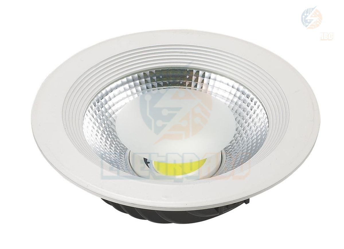 Luminária Downlight LED COB 50 watts 6500K