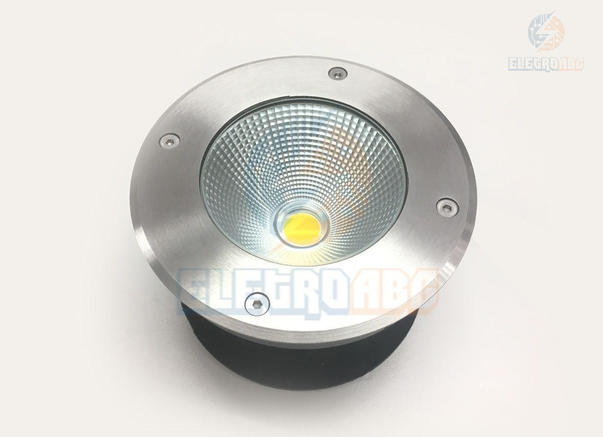 luminária embutida de solo/piso LED COB 10w 3500K