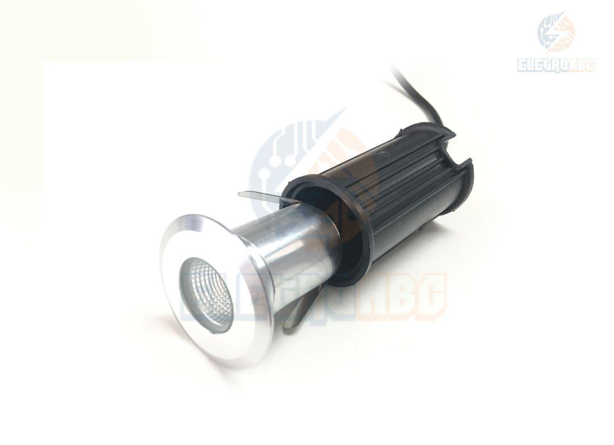 luminária embutida de solo/piso LED COB 3w 3500K