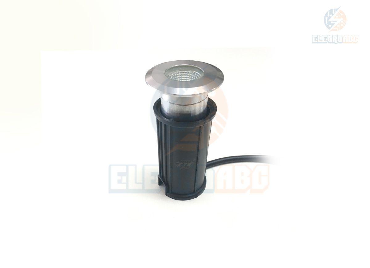 luminária embutida de solo/piso LED COB 3w VD