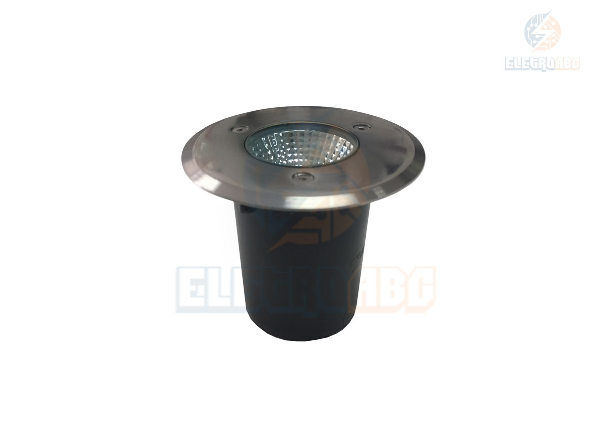 luminária embutida de solo/piso LED COB 7w 3500K