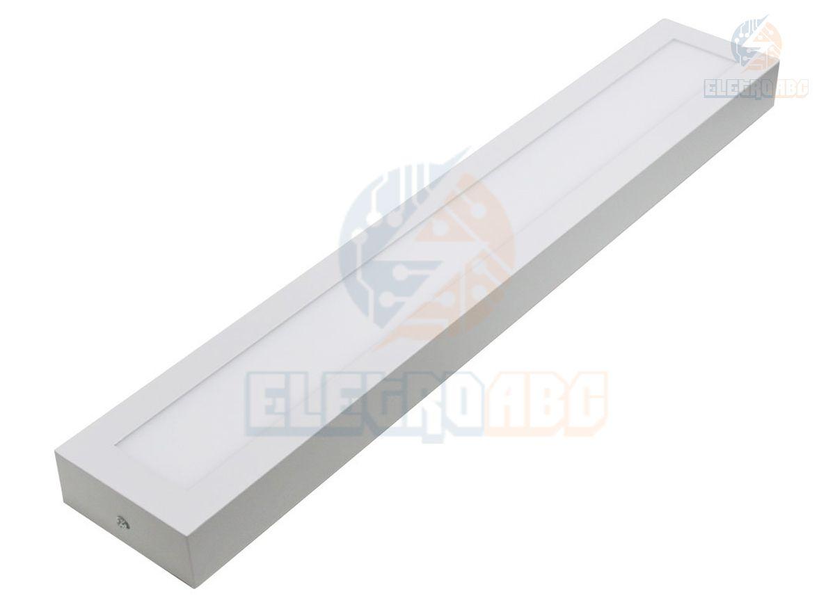 Luminária LED BF Retangular de Sobrepor 18W 60x10cm