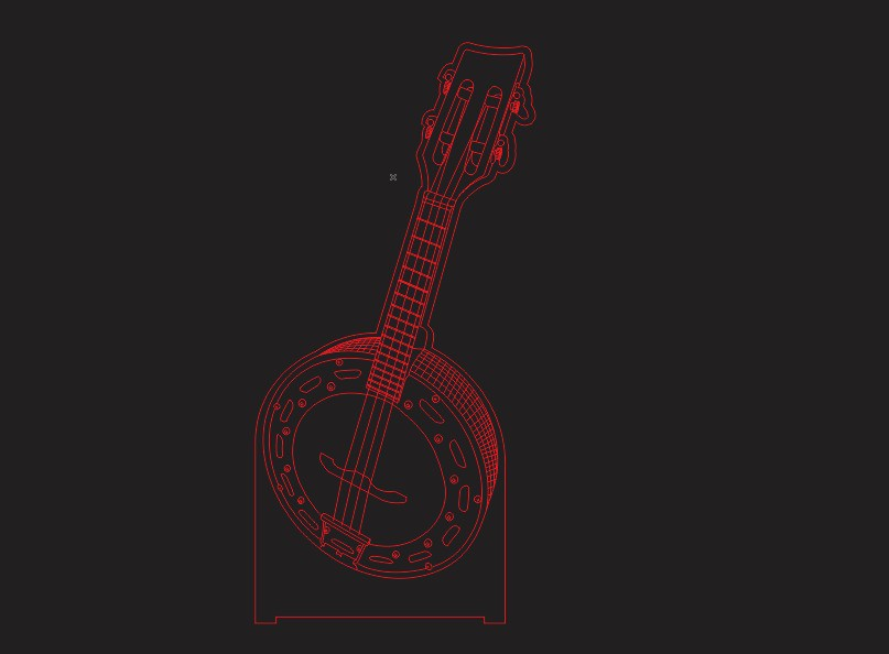 Luminária LED ilusion 3D Banjo