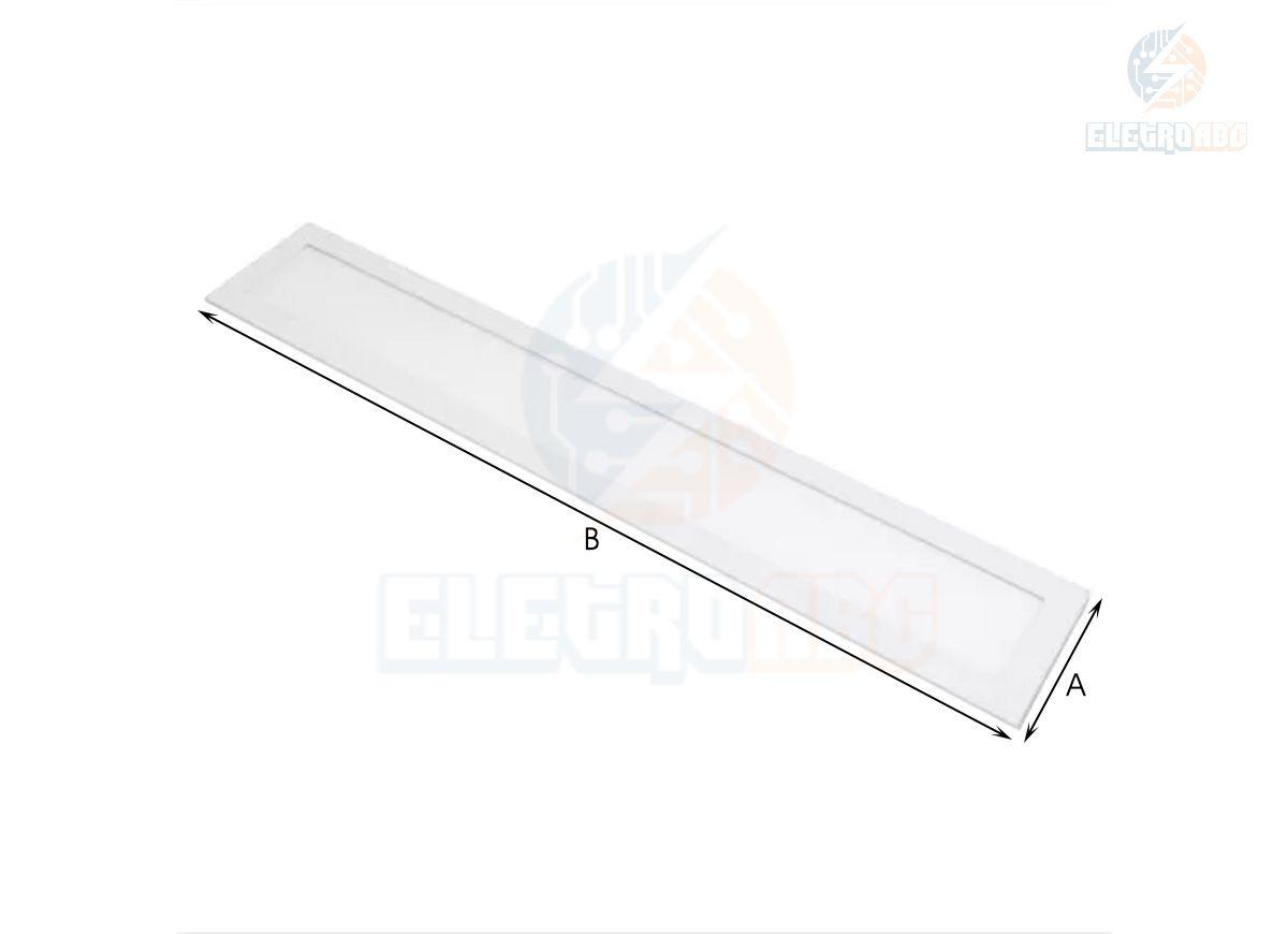 Luminária LED Retangular de embutir 30W BF 10X120cm