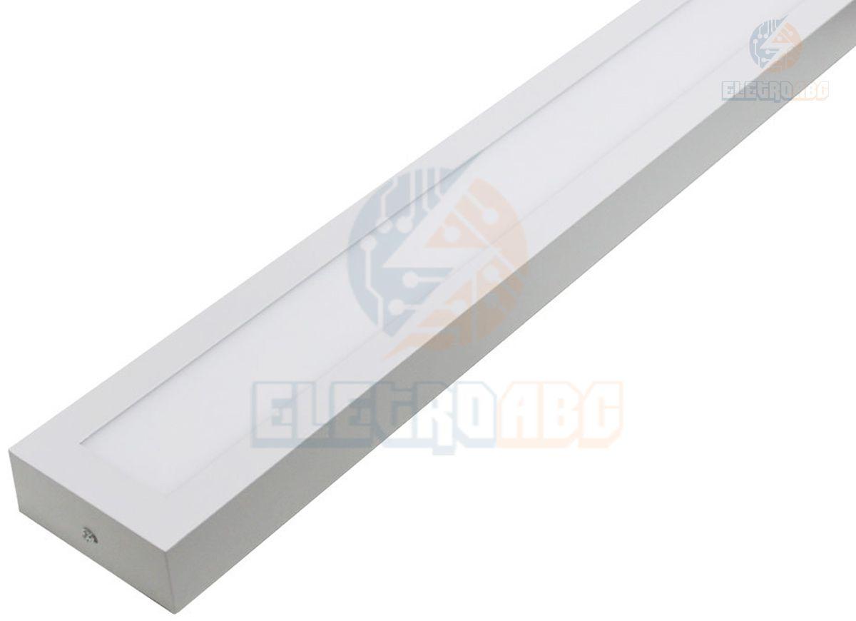Luminária LED Retangular de Sobrepor 30W 120x10cm