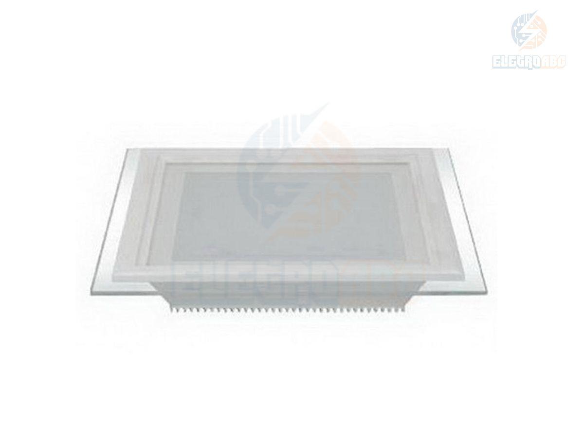 Luminária LED Slim 12W BF Quadrada Vidro