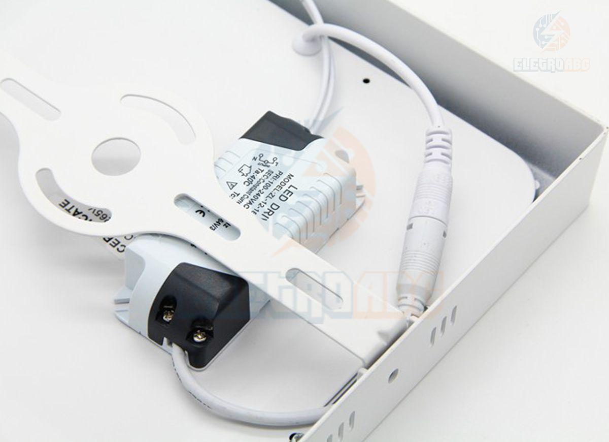 Luminária LED sobrepor 12 watts BF quadrada