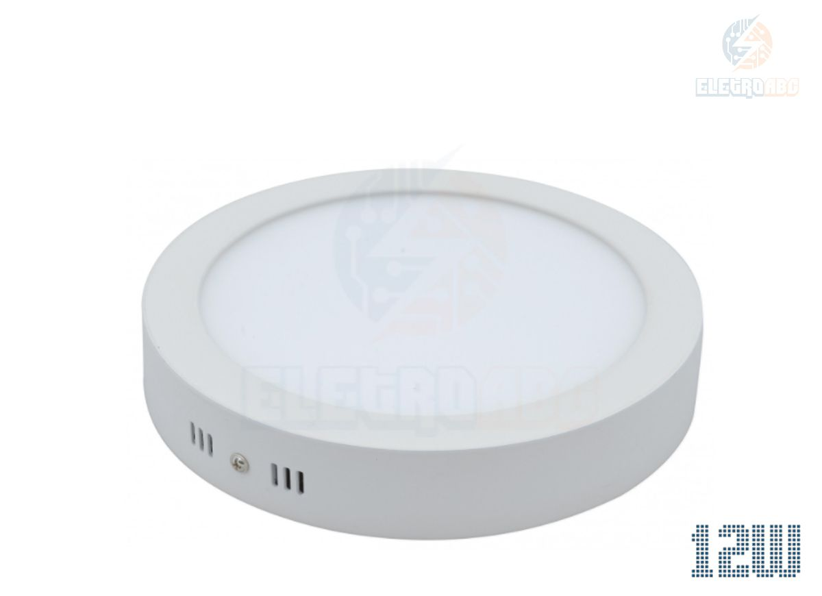 Luminária LED sobrepor 12 watts BF Redondo